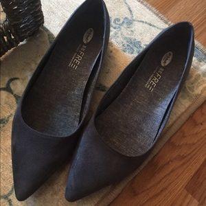 Dr. Scholl's Blue Ballet Flat comfy work shoes!